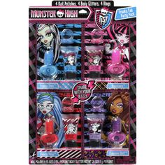 Lotta Luv Monster High Nail Polish Freaky Fab Party Pack, 12 count