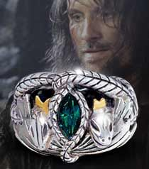 I bought Aragorn's Ring of Barahir for my husband Mike.