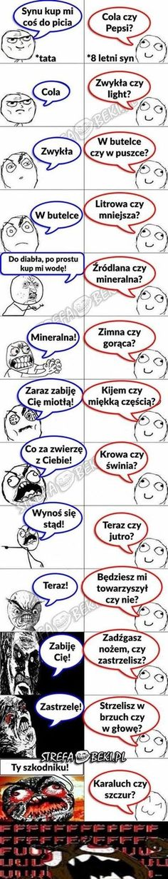 Tata i 8 letni syn Wtf Funny, Funny Cute, Hilarious, Polish Memes, Weekend Humor, Mexican Memes, Funny Mems, Def Not, Donia