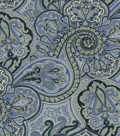 Home Decor Fabric-Waverly Metamorphosis Paddock Shawl Porcelain