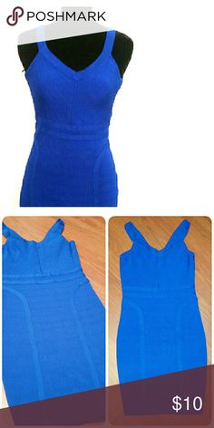 Royal Blue XOXO Bodycon Dress Worn only once and has no visible signs of wear. Good condition. Great slip on dress, pair with some heels and you're ready to go out on the town! XOXO Dresses Mini