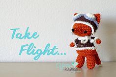 Aviator Fox free crochet pattern by Yarn Treasures 🌸 Amigurumi Queen Crochet Fox, Crochet Patterns Amigurumi, Cute Crochet, Crochet Crafts, Crochet Yarn, Crochet Projects, Fox Crafts, Yarn Organization, Fox Pattern