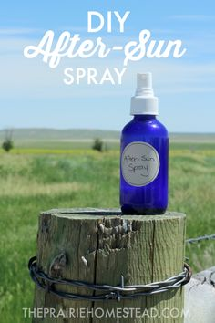 After-sun spray is easy to make (just aloe, witch hazel, and essential oils) and super soothing and cooling for red hot skin.
