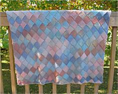 """This blanket was named after the """"beach scene"""" colorway. It's a good way to get your feet wet with entrelac, because neither gauge nor exact size is very important. Afghan Blanket, Picnic Blanket, Outdoor Blanket, Crochet Granny, Knit Crochet, Knitting Projects, Knitting Patterns, Knitted Blankets, Baby Blankets"""