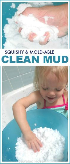 Squishy & mold-able clean mud for kids; all the fun of mud with none of the mess!