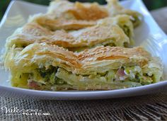 Rustico di sfoglia con zucchine pancetta e philadelphia goloso buonissimo, ingredienti di sicuro successo ideale per feste,buffet e aperitivi