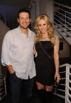 """Tony Romo Photos Photos - Dallas Cowboys Quarterback Tony Romo (L) and television personality Candice Crawford attend a private dinner hosted by Audi during Super Bowl XLV Weekend at the Audi Forum Dallas on February 5, 2011 in Dallas, Texas. - Antonio """"L.A."""" Reid Hosts A Private Dinner During Super Bowl 2011 Weekend At The Audi Forum Dallas"""