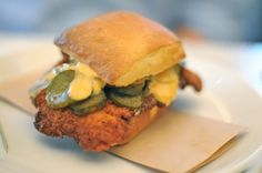 I want to try this!  {Incredible fried chicken sandwich from brunch at Eveleigh}