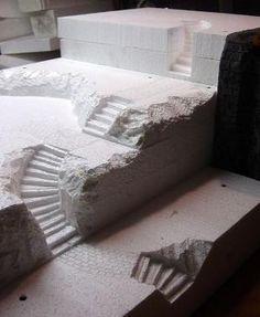 Custom Foam Halloween Village Display by addie
