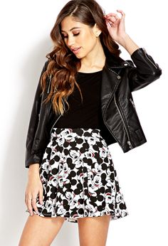 Show Isabelle .Hey Mickey Skater Skirt   FOREVER21 Hey Mickey you're so fine! #MickeyMouse #SkaterSkirt.