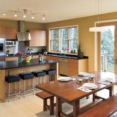 Contemporary Kitchen Modern Rustic Dine In Kitchen Design, Pictures, Remodel, Decor and Ideas - page 2
