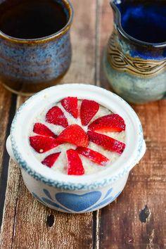 Strawberries and Cream Hot Quinoa Breakfast Cereal - Flavor Mosaic