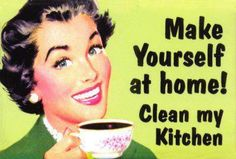 I'm that awkward person who turns up and cleans other people's home!!!