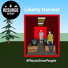 The #LibertyHarvest is the current focus of the place-making entrepreneurs over at @ResurgeDetroit. The project is aimed at creating community around vacant land in the Brightmoor neighborhood by installing shipping container grow-houses to teach veterans about agriculture as they grow crops for the local community year-round. -------------------------------------------------------------- Their entrepreneurial endeavor focuses on rehabilitating spaces in innovative ways to grow the community…