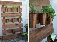 Pallet Herb Garden DIY--from Design Loves Detail. This is so easy to do!