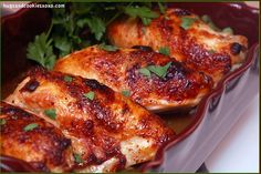 pollo en jarabe de arce