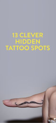 13 Clever Hidden Tattoo Spots