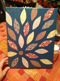 Canvas craft. Paint it, cut scrapbook paper, and modge podge it!! Easy craft!!