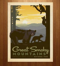 Great Smoky Mountains Art Print   Art Prints   Anderson Design Group   Scoutmob Shoppe   Product Detail