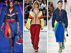 Versace, Koché and Maison Margiela showed retro looks that recalled the athletic trends of the '70s and '90s.