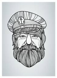 Image result for bearded sailor illustration