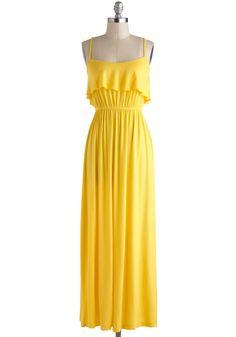 b08842e9653 Vestido largo para la playa ♥ Yellow Maxi Dress
