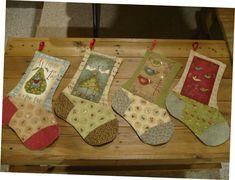 """""""12 days of christmas"""" stockings"""