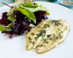 Sole a la Meuniere with broccoli and olive salad Rachel Allen More