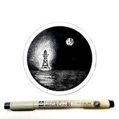 Derek Myers pen and ink artwork