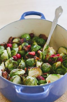 Bacon & Cranberry Roasted Brussels Sprouts With Honey Dijon Dressing. ☀CQ #GF #glutenfree