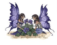 Amy Brown: Fairy Art - The Official Gallery - violets