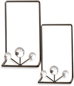 NEW JEWELED DISPLAY EASELS Holders Table Top LOT/2 Wedding Reception Home Decor #SanMiguel