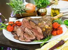 Impress your guests with this super simple dish! Garlicky Leg of Lamb by Jamie Dement! Don't miss more recipes on Home & Family weekdays at on Hallmark Channel! Healthy Eating Meal Plan, Healthy Cooking, Healthy Recipes, Healthy Habits, Healthy Food, Lamb Recipes, Dinner Recipes, Wine Ingredients, Family Meals