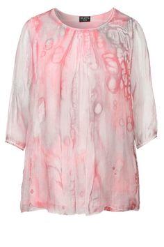 VIA APPIA DUE Edles Blusenshirt aus Seide für 89,99€. Feminines Shirt mit Raffungen, Wunderbar leicht dank reiner Seide bei OTTO