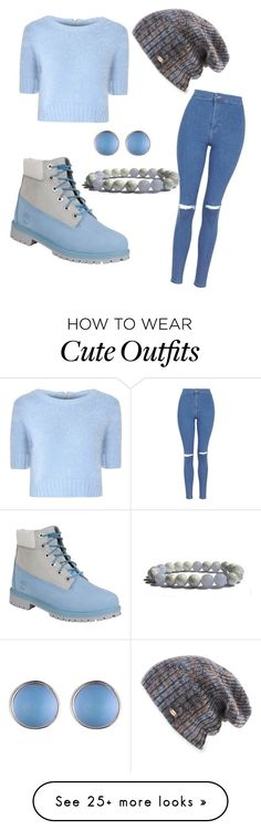 """Fall simple cute outfit"" by ciarachanel21 on Polyvore featuring Glamorous, Topshop, Timberland, Alexis Bittar and Spacecraft"