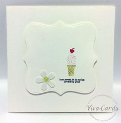 """183 - Handmade Card - """"How Sweet It Is To Be Loved By You""""   #Ice Cream, #Love, #Flowers, #Cherry"""