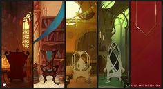 ArtStation - Hogwarts common rooms, Carlos Ruiz