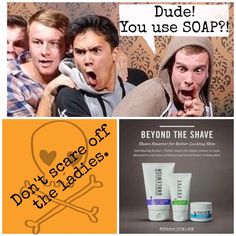 MEN...We have something for you too! Use our shaving regimen and say goodbye to red, irritated skin. Try this for 60 days and if you're not impressed with the results then we'll refund your money. Does your store-bought shaving cream or bar of soap you're using to shave with now have that kind of gaurantee?
