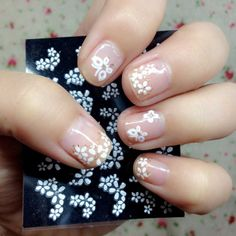 50 Sheets Nail Art Transfer Stickers Design Manicure Tips Decal Decorations 3d Nail Art, Nail Art Set, Kiss Nails, 3d Nails, Cute Nails, Trendy Nails, Design 3d, Floral Design, Art Floral