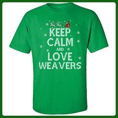 Keep Calm And Love Weavers Jobs Ugly Christmas Sweater - Adult Shirt - Holiday and seasonal shirts (*Amazon Partner-Link)