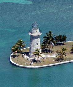 "✮ Boca Chita ""lighthouse"" island north of the upper Florida Keys - Biscayne National Park Miami-Dade County, FLA"
