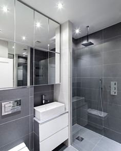 Bathroom Design Ideas, Bathroom Photos, Makeovers and Decor Grey Bathrooms Designs, Best Bathroom Designs, Contemporary Tile, Contemporary Bathrooms, Modern Bathtub, Modern Bathroom, Teenage Bathroom, Grey Bathroom Floor, White Marble Bathrooms