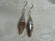 Silver Plated Miter Shell with Sterling Silver by TheSaltyShell, $16.00
