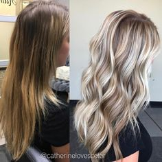 """2,766 Likes, 31 Comments - Michigan Balayage   BL❄️NDE (@catherinelovescolor) on Instagram: """"Before & After  She wanted brighter balayage but added Dimension. I balayaged with @oligopro…"""""""