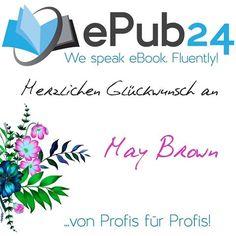 Herzlichen Glückwunsch an unsere erste Gewinnerin. Bitte sende eine Mail mit deinen Kontaktdaten an marketing@epub24.com und du bekommst deinen individuellen Gutschein-Code zugesendet. Vielen Dank an alle Teilnehmerinnen. Wir wünschen euch viel Glück beim nächsten Gewinnspiel - das schon am nächsten Montag startet, um den Wochenanfang zu versüßen. Herzliche Grüße euer ePub24-Team