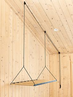 Hanging Drying Rack.  Simple, functional and designed to last, the Hanging Clothes Rack is mounted from the ceiling using a seamless pulley system. This quickly dries laundry by utilising warm air trapped in the ceiling space. At the same time it creates additional floor space by eliminating the need for a clotheshorse. Shop at www.georgeandwilly.com