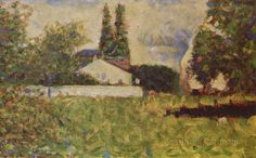 A House Between Trees by George Seurat