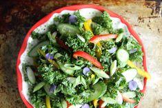 Asian Kale Salad with Sesame Dressing