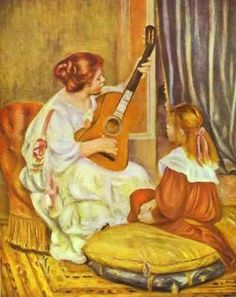 """""""La leçon de guitare"""", Pierre-Auguste Renoir, 1897"""