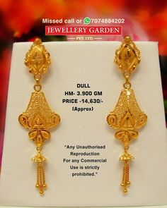 Gold Jhumka Earrings, Gold Bridal Earrings, Bridal Bangles, Dubai Gold Jewelry, Gold Jewellery Design, Gold Ring Designs, Gold Earrings Designs, Gold Mangalsutra Designs, Gold Jewelry Simple